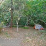 A tent campsite.