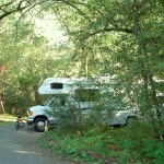 An RV campsite.