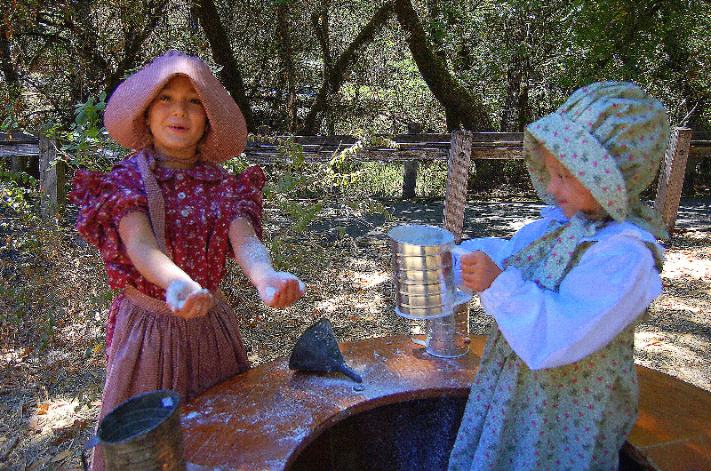 Bale Grist Mill - fun with flour