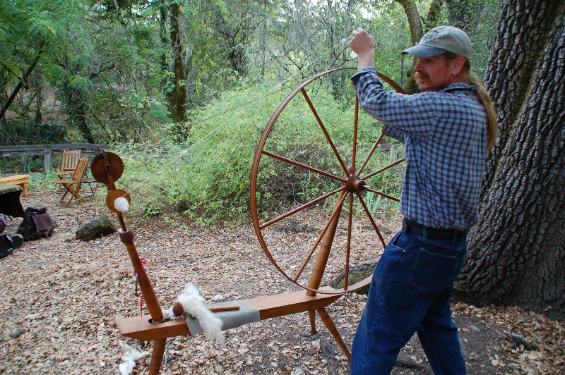 Spinning with a great wheel takes skill!