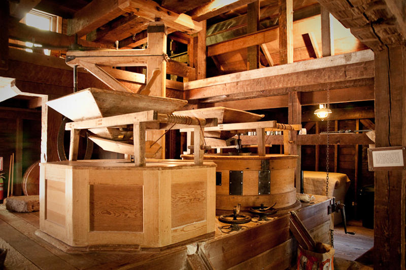 Inside the mill.