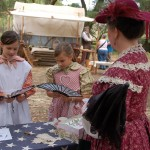 Reenactors teach about california life in the mid 19th century
