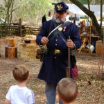 Learning about a soldier's life in the 1860s.