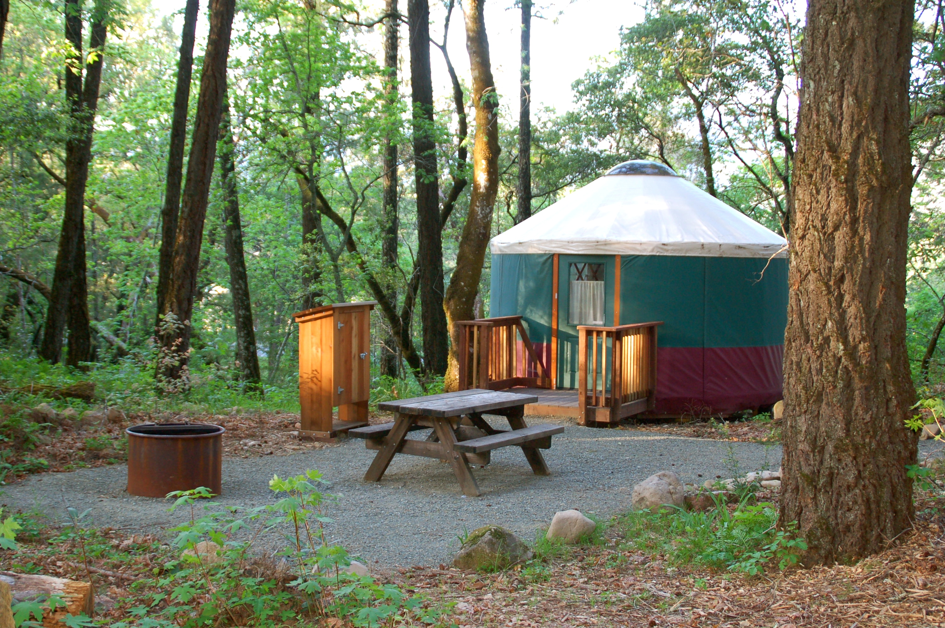 Bothe napa camping for Camp sites with cabins